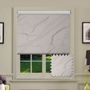 PVC Blackout Picasso White Roller Blind